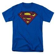 541da04e33c Superman Men s Charcoal Shield T-shirt Royal
