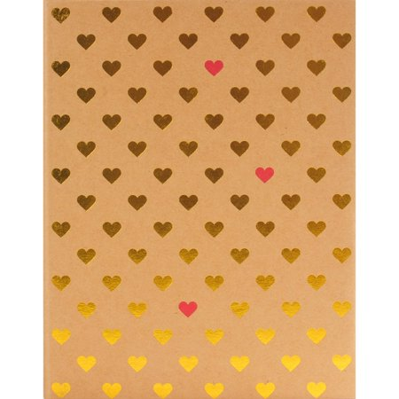 - Pinnacle Gold Foil Hearts Photo Album, Holds 208 - 4