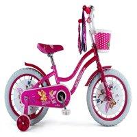 """Micargi Ellie 16"""" Girls Cruiser Bike Pink/Hot Pink"""