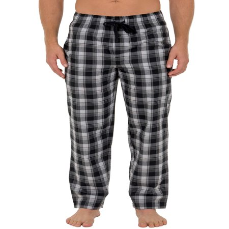 Fruit of the Loom Men's Microsanded Woven Plaid Sleep Pant (Plaid Short Pants)