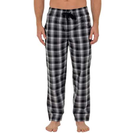 Fruit of the Loom Men's Microsanded Woven Plaid Sleep Pant