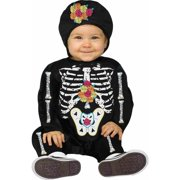 b6854edfff2 Day of the Dead Baby Bones Skeleton Infant Costume
