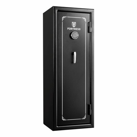 Fortress FS14E 14 Gun Fire Safe with - Black Gun Safe