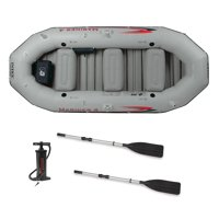 Intex Mariner 4-Person Inflatable River Lake Dinghy Boat and Oars Set | 68376EP