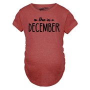 5dbc718e0 Maternity Due In December Funny T shirts Pregnant Shirts Announce Pregnancy  Month Shirt