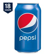 Pepsi Soda, 12 oz Cans, 18 Count