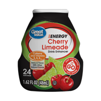 (10 Pack) Great Value Energy Drink Enhancer, Cherry Limeade, 1.62 fl oz