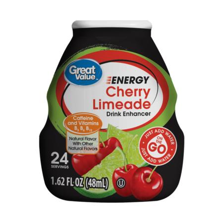 Cherry Drink (Great Value Cherry Limeade Energy Drink Enhancer, 1.62 Fl. Oz. )