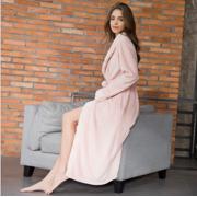 505f81b376 Magshion Women Cute Flannel Fleece Long Sleeve Soft Cozy Bath Robe  Sleepwear Warm Pink