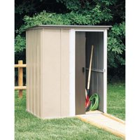 Brentwood 5 x 4 ft. Pent Roof Steel Storage Shed Coffee/Taupe/Eggshell