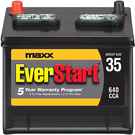 Everstart Maxx Lead Acid Automotive Battery Group 35n Walmart Com