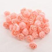 aa8e3601cccf 50 PCS Mini PE Foam Rose Artificial Flowers For Wedding Car Decoration DIY  Pompom Wreath Decorative