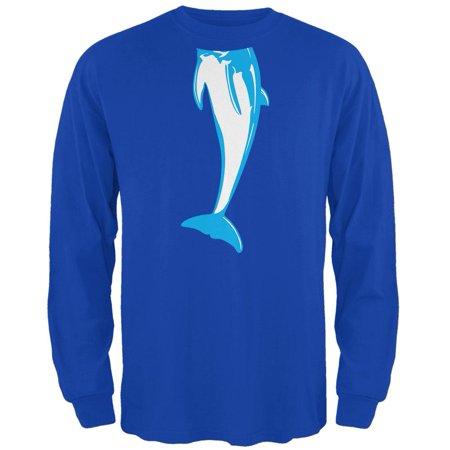 Halloween Dolphin Body Costume Mens Long Sleeve T Shirt