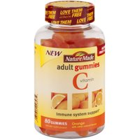 Nature Made Orange Vitamin C Adult Gummy Chewable, 80 CT (Pack of 3)