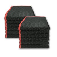Uboxes Deluxe Moving Blankets, 72 x 80 in, 5.42lbs each, 12 Pack