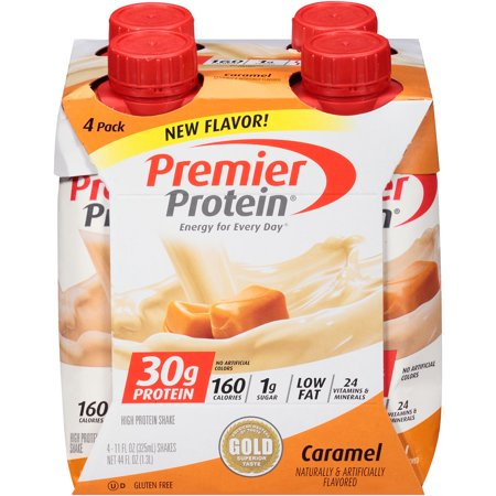 Premier Protein Shake, Caramel, 30g Protein, 11 Fl Oz, 4 (Best Muscle Building Protein Shake Recipes)