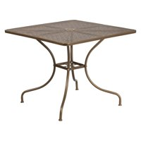 Flash Furniture 35.5'' Square Indoor-Outdoor Steel Patio Table, Multiple Colors