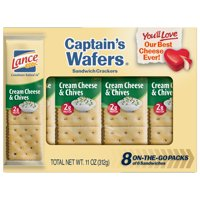 Lance Captain's Wafers Cream Cheese and Chives Sandwich Crackers, 8 Ct