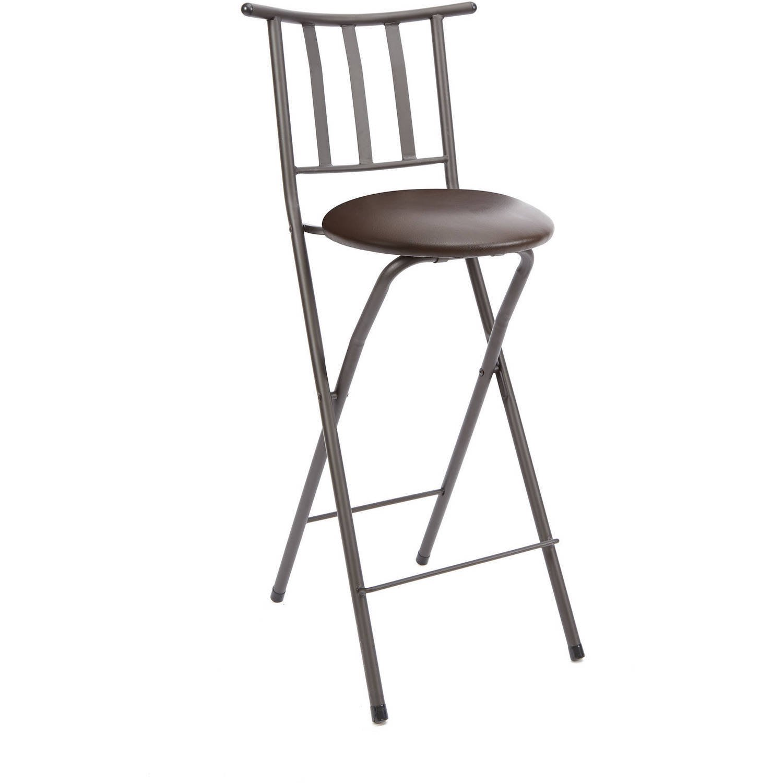 Pleasing Mainstays Slat Back Folding 30 Bronze Barstool Multiple Creativecarmelina Interior Chair Design Creativecarmelinacom