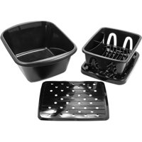 Camco Sink Kit with Dish Drainer, Dish Pan and Sink Mat