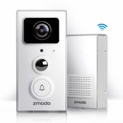 ac6ea8ac6e2 Zmodo Smart Video Doorbell Door Chime with 1080p Full HD WiFi Night Vision  Camera