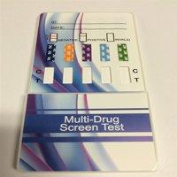 [CASE OF 25] 10 PANEL DRUG TEST DIP CARD FDA (AMP, BAR, BZO, COC, METH, MTD, OPI, OXT, PCP, THC)