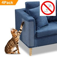 4PCS Cat Scratch Furniture Clear Premium Heavy Duty Flexible Vinyl Pet Couch Protector Guards for Protecting Your Furniture Stops Scratching Cats Furniture Protector