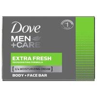 Dove Men+Care Extra Fresh Body and Face Bar, 4 oz, 10 Bar