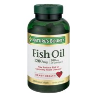 Nature's Bounty Fish Oil Omega-3 Odorless Softgels, 1200 Mg, 200 Ct