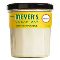 Mrs. Meyer's Clean Day Scented Soy Candle, Large Glass, Honeysuckle, 7.2 oz