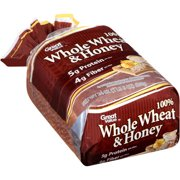 Great Value 100% Whole Wheat & Honey Bread, 24 oz