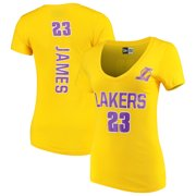 Women s New Era LeBron James Gold Los Angeles Lakers Baby Jersey Name    Number V- 3589abac3