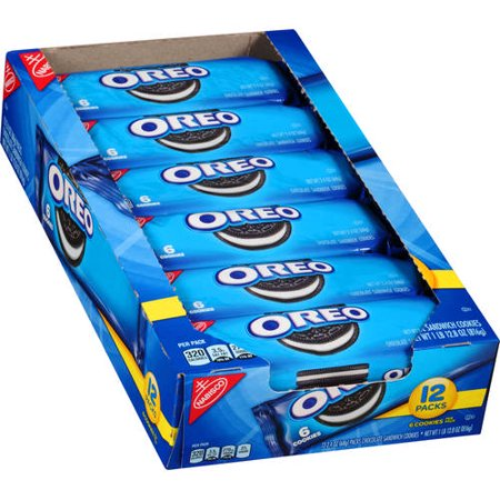 (2 Pack) Nabisco Oreo 12 pack tray, 6 count