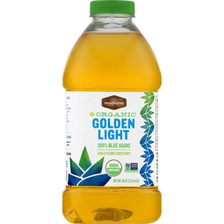 Madhava Organic Golden Light 100% Blue Agave 46 oz. Bottle