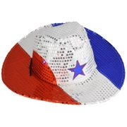 f7939f7cf58f6a Flashing Patriotic Cowboy Hat with LED Lights for 4th of July Party Favors  Sequin USA