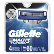 Gillette Mach3 Turbo Men's Razor Blades (Choose Count)