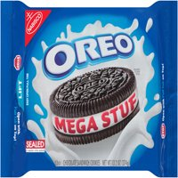 Nabisco Oreo Mega Stuf Chocolate Sandwich Cookies, 13.2 Oz.