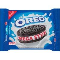 (2 Pack) Nabisco Oreo Chocolate Sandwich Cookies Mega Stuf, 13.2 OZ