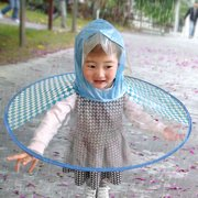 646ecaac1cf1b OkrayDirect Foldable Cute Raincoat UFO Children Umbrella Hat Magical Hands  Free Raincoat BUS