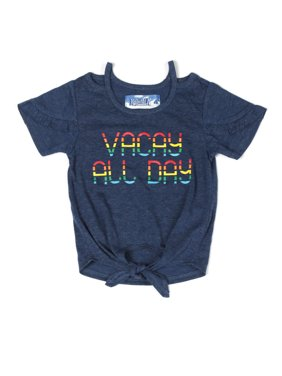 Vacay All Day Ruffled Tee (Little Girls)