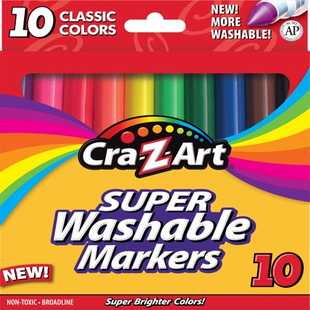 Cra-Z-Art Washable Markers, 10 Count](Washable Markers)