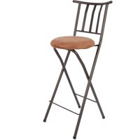 "Mainstays Slat Back Folding 30"" Bronze Bar Stool, Multiple Colors"