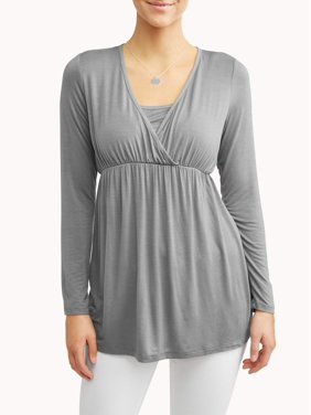 Maternity Nursing Friendly Long Sleeve Top