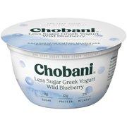 Chobani, Less Sugar Greek Wild Blueberry Low Fat Greek Yogurt, 5.3 Oz.