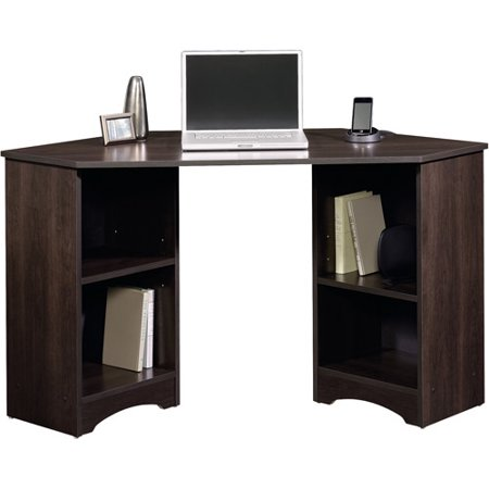 Sauder Beginnings Corner Desk, Cinnamon Cherry Finish Computer Credenza Sauder Office Furniture