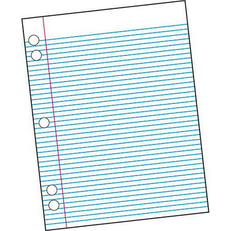- School Smart 5-Hole Punched Filler Paper with Margin, 8.5