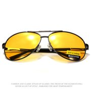 9f1535bf95 Yellow Lens Metal Frame UV400 Polarized Sunglasses Anti-Glare Night Vision  Glasses Outdoor Sports Driving