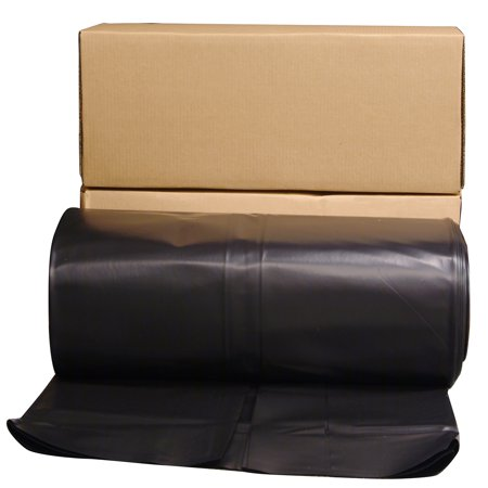 Poly-america 6 mL Tyco Polyethylene Black Plastic Sheeting, 40' x 100'