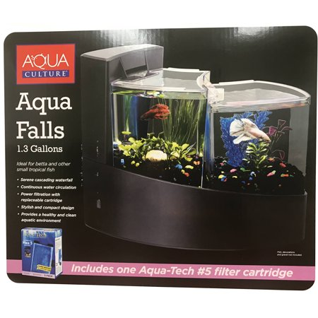 Aqua Culture Aqua Falls Betta Fish Aquarium Kit 1 3 Gallon