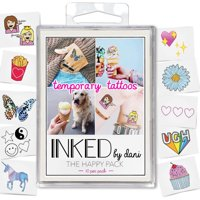 INKED by Dani Happy Temporary Tattoo Pack